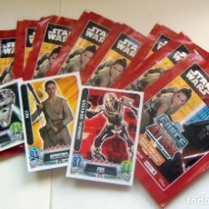 Trading Cards: LOTE 9 SOBRES SIN ABRIR MAS TRES CROMOS STAR WARS TOPPS FORCE ATTAX 2010. Lote 89500412