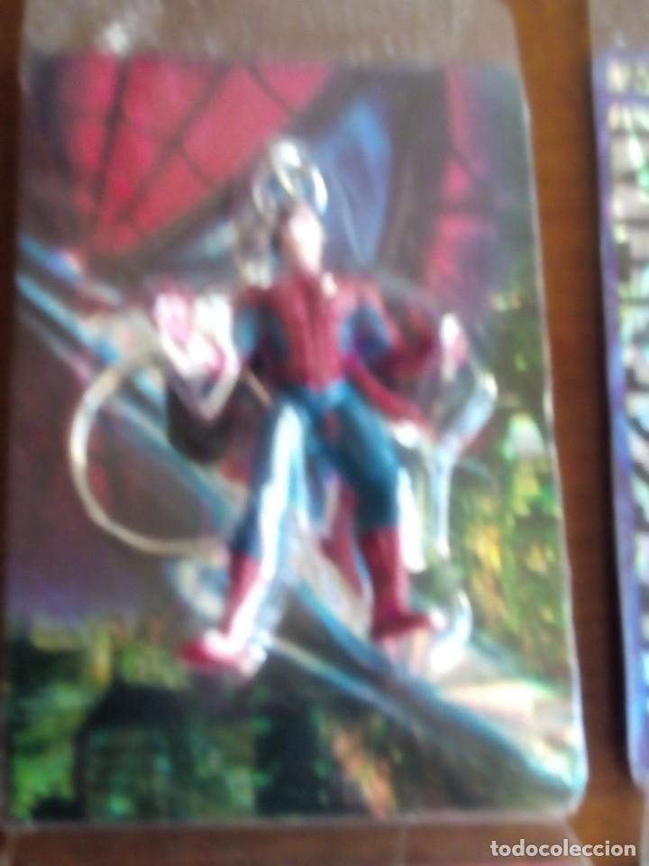 Trading Cards: SPIDERMAN 4 LLAVEROS CON UNA TRADING CART CADA UNO AÑOS 90 DIFICILES DE VER - Foto 3 - 89688224