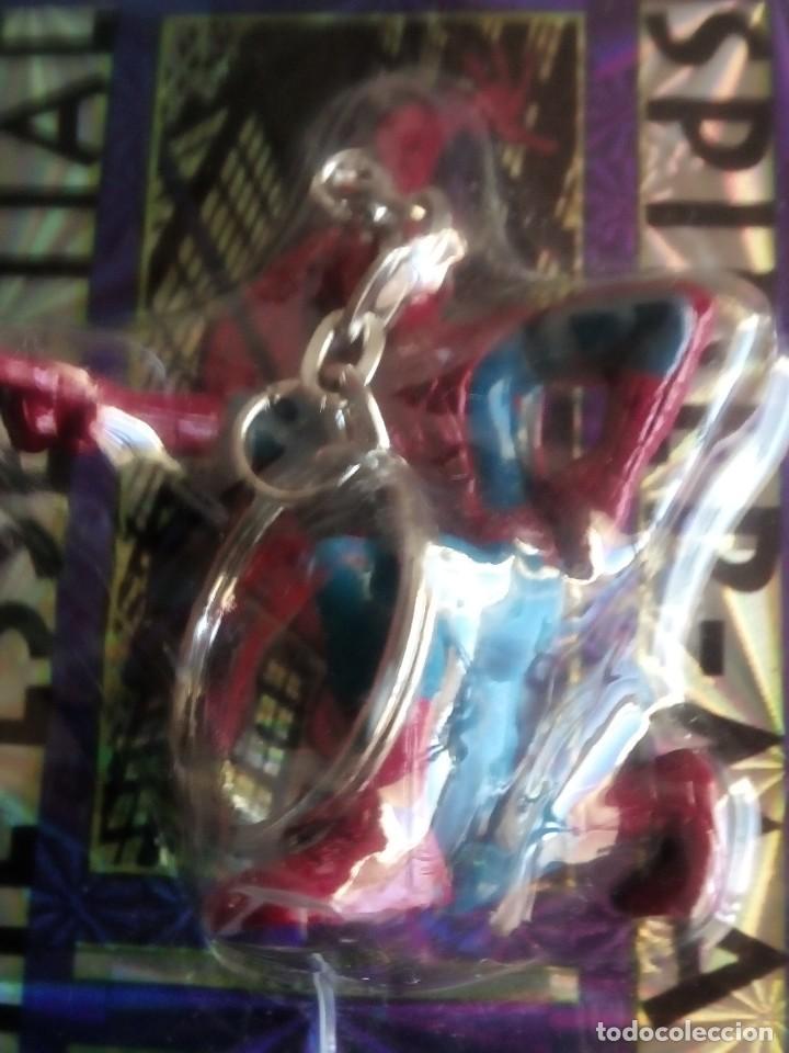 Trading Cards: SPIDERMAN 4 LLAVEROS CON UNA TRADING CART CADA UNO AÑOS 90 DIFICILES DE VER - Foto 4 - 89688224