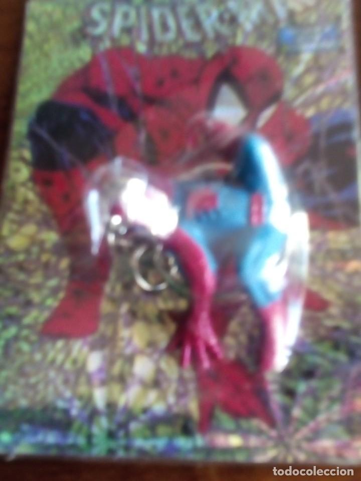 Trading Cards: SPIDERMAN 4 LLAVEROS CON UNA TRADING CART CADA UNO AÑOS 90 DIFICILES DE VER - Foto 5 - 89688224