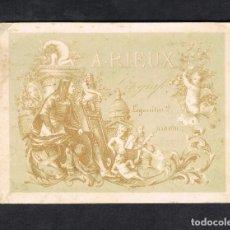 Trading Cards: CARTULINA LITÓGRAFO A. RIEUX, LEGANITOS 2 MADRID, MUY ANTIGUA.. Lote 90336696