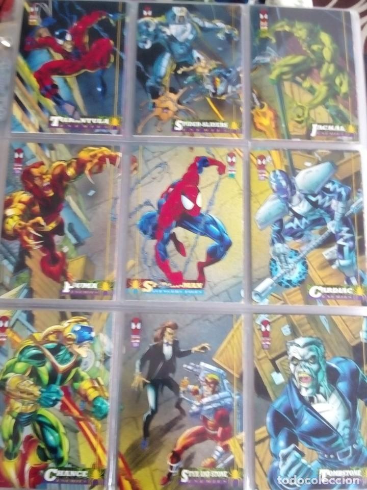 Trading Cards: MARVEL SPIDER-MAN AÑO 1994 N 1 AL 150 COMPLETA - Foto 4 - 91061455