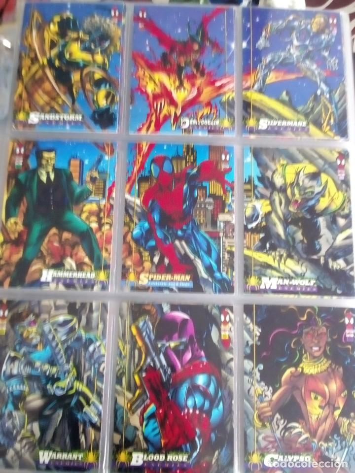 Trading Cards: MARVEL SPIDER-MAN AÑO 1994 N 1 AL 150 COMPLETA - Foto 5 - 91061455