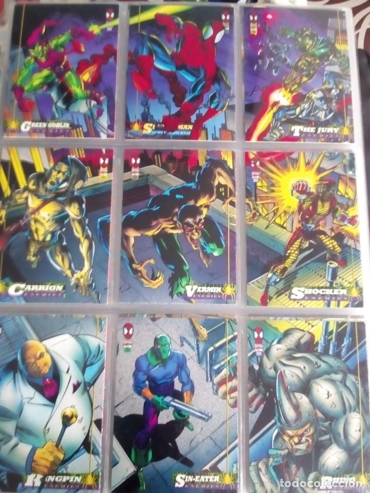 Trading Cards: MARVEL SPIDER-MAN AÑO 1994 N 1 AL 150 COMPLETA - Foto 6 - 91061455
