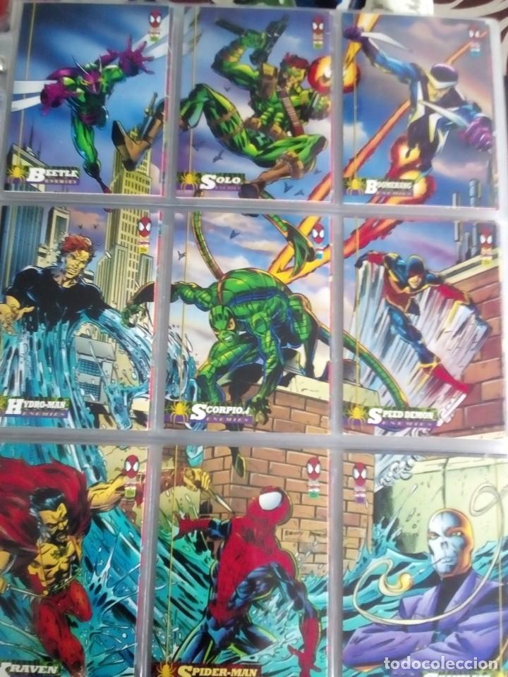 Trading Cards: MARVEL SPIDER-MAN AÑO 1994 N 1 AL 150 COMPLETA - Foto 7 - 91061455
