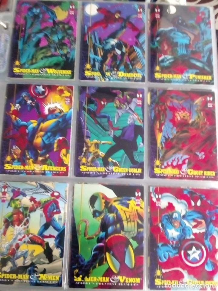 Trading Cards: MARVEL SPIDER-MAN AÑO 1994 N 1 AL 150 COMPLETA - Foto 10 - 91061455