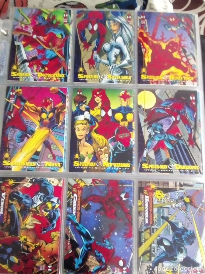 Trading Cards: MARVEL SPIDER-MAN AÑO 1994 N 1 AL 150 COMPLETA - Foto 11 - 91061455