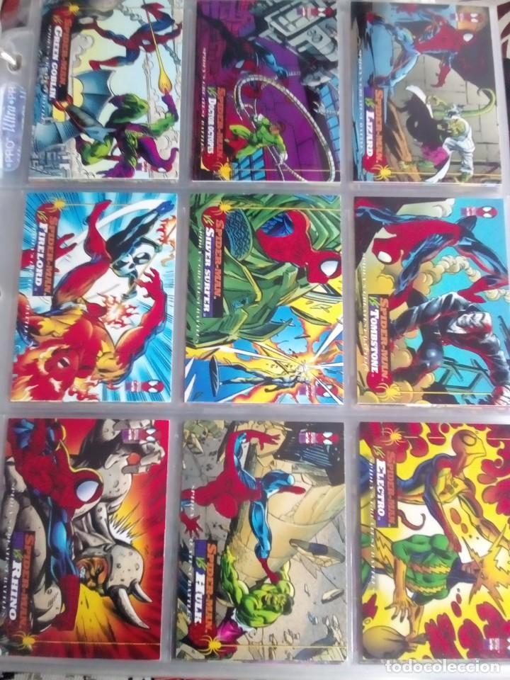 Trading Cards: MARVEL SPIDER-MAN AÑO 1994 N 1 AL 150 COMPLETA - Foto 12 - 91061455
