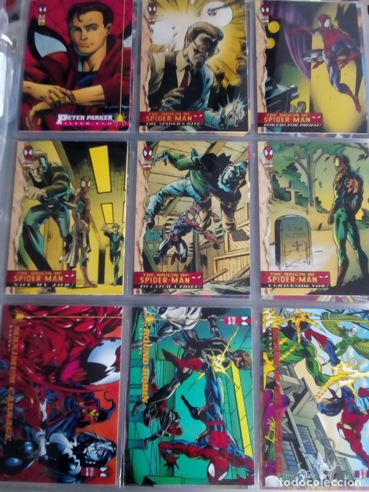 Trading Cards: MARVEL SPIDER-MAN AÑO 1994 N 1 AL 150 COMPLETA - Foto 15 - 91061455