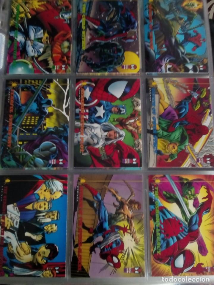 Trading Cards: MARVEL SPIDER-MAN AÑO 1994 N 1 AL 150 COMPLETA - Foto 16 - 91061455