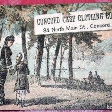 Trading Cards: CONCORD CASH CLOTHING COMPANY TARJETA COMERCIAL ESTADOS UNIDOS. Lote 95585435