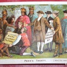 Trading Cards: AYER'S CHERRY PECTORAL TRATADO DE PENN'S TARJETA COMERCIAL PECTORAL DE CEREZA AYER'S. Lote 95585947