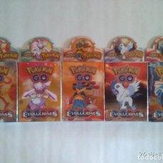 Trading Cards: LOTE DE 5 CAJAS DE CARTAS CROMOS DE POKÉMON GO EVOLUCIONES NUEVAS. Lote 96379383