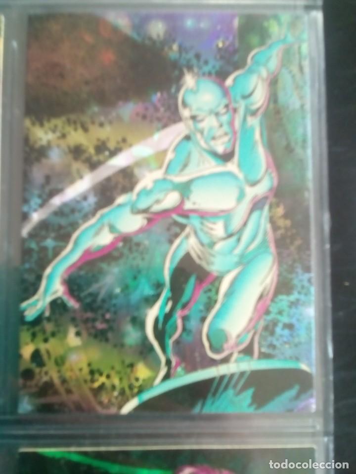 Trading Cards: SILVER SURFER 11 TRADING CARTS USA CON BRILLO AÑO 1992 - Foto 8 - 97070775