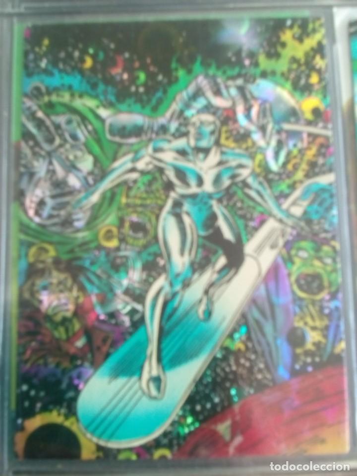 Trading Cards: SILVER SURFER 11 TRADING CARTS USA CON BRILLO AÑO 1992 - Foto 11 - 97070775