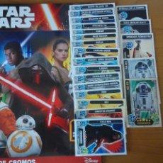 Trading Cards: STAR WARS TRADING CARDS + ALBUM CROMOS CON 6 PEGADOS. Lote 97216552