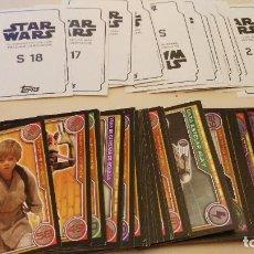 Trading Cards: STAR WARS EL CAMINO DE LOS JEDI - TOPPS - CARREFOUR 2017 - COLECCION COMPLETA - HASTA EL Nº 100. Lote 103964403