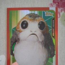 Trading Cards: CARD EDICION LIMITADA ALBUM STAR WARS : LOS ULTIMOS JEDI - LETB PORG . NUEVA A ESTRENAR. Lote 102277179
