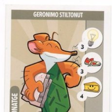 Trading Cards: GERONIMO STILTON - CARTA - MISSIO DE BIGOTIS - CATALAN - GERONIMO STILTONUT. Lote 102506903