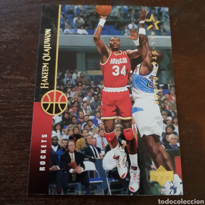 finest selection 43bbd abbae Nba hakeem olajuwon (houston rockets) all star - Sold ...