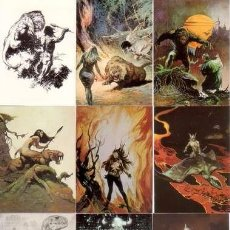 Trading Cards: CASI COMPLETA - FRAZETTA SERIES 2 THE LEGEND CONTINUES BASE SET (COMIC IMAGES,1993) - 86 DE 90 CARDS. Lote 104499583
