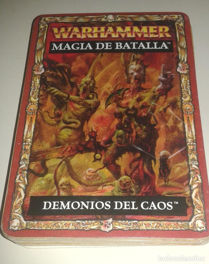 WARHAMMER SET DEMONIOS DEL CAOS MAZO COMPLETO BATTLE MAGIC MAGIA DE BATALLA ESPAÑOL GAMES WORKSHOP segunda mano
