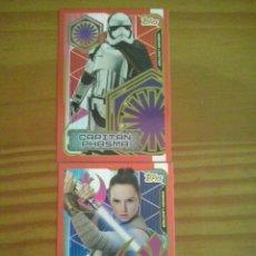 Trading Cards: TOPPS-STAR WARS CARDS EDICION LIMITADA CAPITAN PHASMA Y REY DEL ALBUM STAR LOS ULTIMOS JEDI. NUEVAS. Lote 104938831