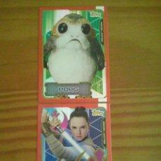 Trading Cards: TOPPS-CARDS EDICION LIMITADA PORG Y REY DEL ALBUM LOS ULTIMOS JEDI. NUEVAS A ESTRENAR. Lote 117326902