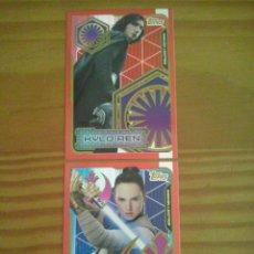 Trading Cards: TOPPS-STAR WARS CARDS EDICION LIMITADA KYLO REN Y REY DEL ALBUM STAR WARS LOS ULTIMOS JEDI. NUEVAS. Lote 104939127