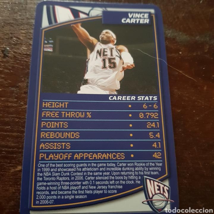 007901367254 NBA VINCE CARTER (NEW JERSEY NETS) TOP TRUMPS SPECIALS 2007-2008  (Coleccionismo