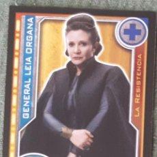 Trading Cards: 85 - LEIA ORGANA - STAR WARS - EL CAMINO DE LOS JEDI - TRADING CARD GAME -CARREFOUR 2017. Lote 106610050