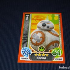 Trading Cards: BB-8 - 4 - STAR WARS - FORCE ATTAX EXTRA - TOPPS - DISNEY. Lote 106639823