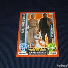 Trading Cards: REY FINN & BB-8 - 93 - STAR WARS - FORCE ATTAX EXTRA - TOPPS - DISNEY. Lote 106647491