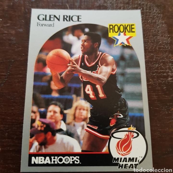 Nba Glen Rice Rookie Miami Heat N 168 Nba Hoops 90 91