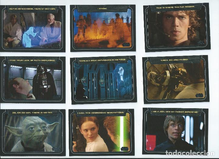 STAR WARS GALACTIC FILES. SUBSET CLASSIC LINES (FRASES CLASICAS) COMPLETO . 10 CARDS (Coleccionismo - Cromos y Álbumes - Trading Cards)