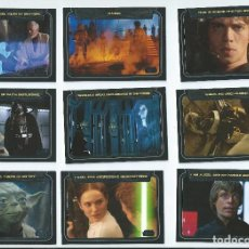 Trading Cards: STAR WARS GALACTIC FILES. SUBSET CLASSIC LINES (FRASES CLASICAS) COMPLETO . 10 CARDS. Lote 107256895