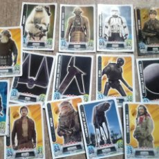 Trading Cards: LOTE 14 CROMOS,DE STAR WARS,FORCE ATTAX,TRADING CARD GAME. Lote 107973978