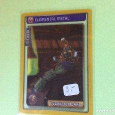 Trading Cards: 2009/2016-INVIZIMALS - BATALLA DE CAZADORES-NUEVO (TITANIO)ELEMENTAL METAL-EVOLUTION CARD-Nº 17. Lote 108032423