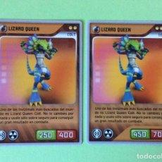 Trading Cards: INVIZIMALS- DESAFIÓ OCULTO-2009-2013 (ERROR) LIZARD QUEEN - Nº 284. Lote 108189155