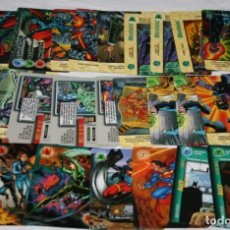 Trading Cards: LOTE DE 93 CARTAS, OVER POWER, ROBIN BATMAN SUPERMAN MISSION ETC. DC COMIC 1996, TRADING CARDS. Lote 108236215