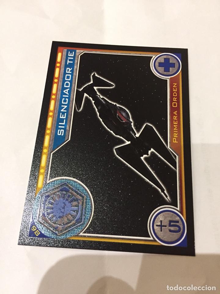 Cromos Cartas Star Wars Carrefour 98 Silenciador Tie Primera Orden