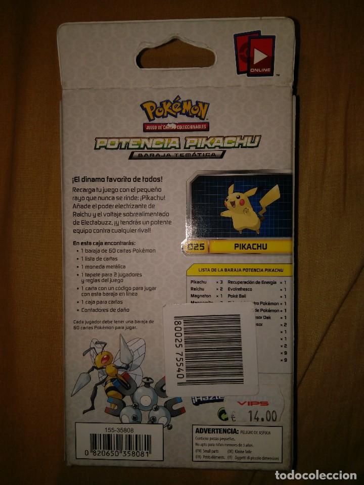 Trading Cards: pokemon juego de cartas coleccionables potencia tematica baraja pikachu nuevo trading cards - Foto 2 - 109999855