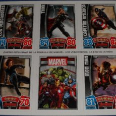 Trading Cards: MARVEL AVENGERS - TOPPS HERO ATTAX - UNCUT R1, R11, R12, R14 Y R15 - TOPPS (2010). Lote 111230514