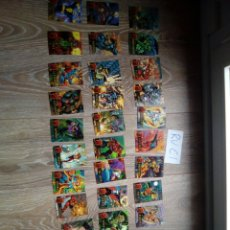Trading Cards: LOTE 33 TRADING CARD FIREPOWER FIRE POWER DC CON RELIEVE, POSIBLE PREPARAR LOTE CON TUS FALTAS. Lote 111571931