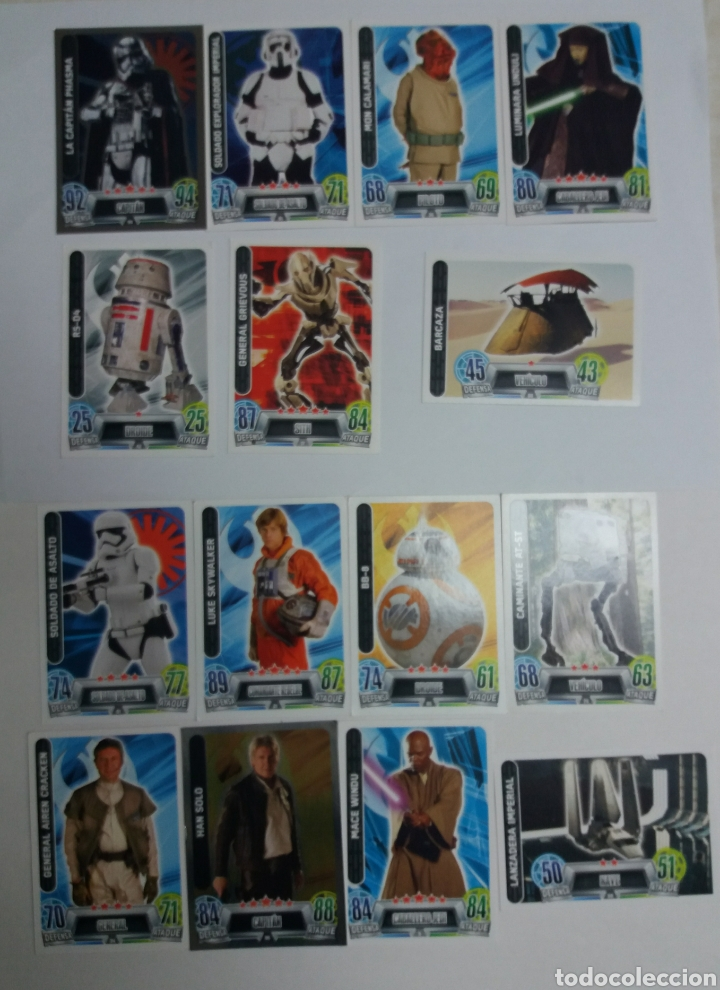 LOTE TRADING CARDS STAR WARS FORCE ATTAX, TOPPS (Coleccionismo - Cromos y Álbumes - Trading Cards)