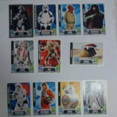 Trading Cards: LOTE TRADING CARDS STAR WARS FORCE ATTAX, TOPPS. Lote 112309606