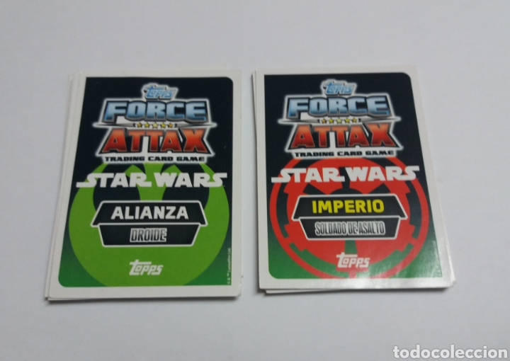Trading Cards: LOTE TRADING CARDS STAR WARS FORCE ATTAX, TOPPS - Foto 2 - 112309606