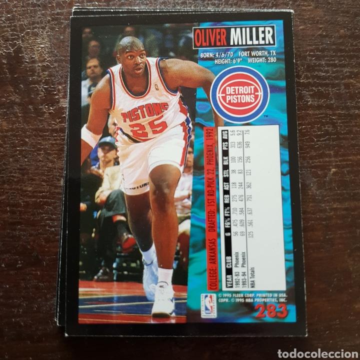 NBA OLIVER MILLER (Detroit Pistons) N° 283 Fleer '94-95