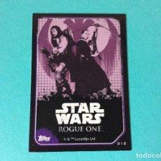 Trading Cards: STAR WARS - ROGUE ONE - CARTA PEGATINA - Nº 212. Lote 118032696