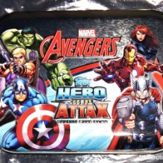 Trading Cards: TOPPS MARVEL THE AVENGERS HERO ATTAX TIN CASE ZBOX ZAVVI EXCLUSIVE VENGADORES CAJA METÁLICA. Lote 116879195